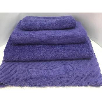 Махровое полотенце Туркменистан фиолетовое фото 2