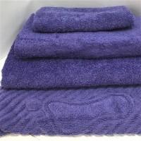 Махровое полотенце Туркменистан фиолетовое