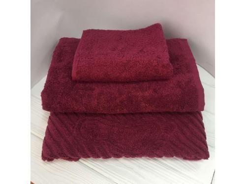Махровое полотенце Туркменистан бордовое 2208 от АDТ в интернет-магазине PannaTeks