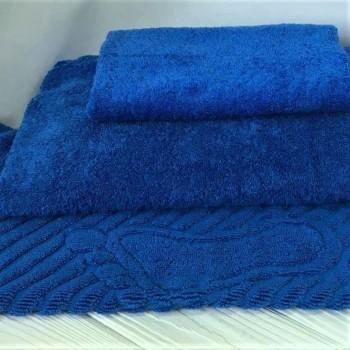 Махровое полотенце Туркменистан синее