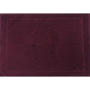 Махровое полотенце Туркменистан бордовое фото 3
