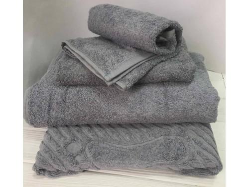 Махровое полотенце Туркменистан серое 2209 от АDТ в интернет-магазине PannaTeks