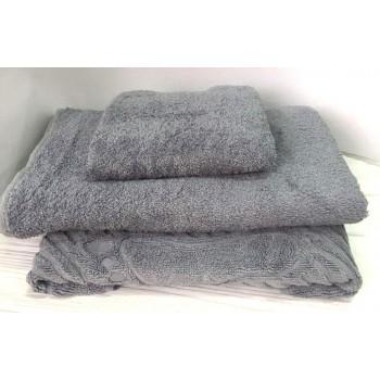 Махровое полотенце Туркменистан серое фото 1