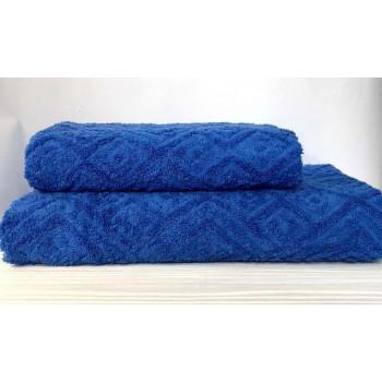 Жаккардовое полотенце Туркменистан синее фото 1
