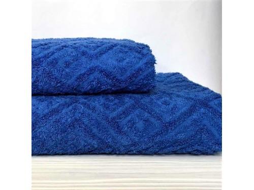Жаккардовое полотенце Туркменистан синее 2202 от АDТ в интернет-магазине PannaTeks