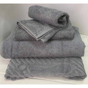 Махровое полотенце Туркменистан серое