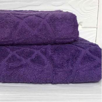 Жаккардовое полотенце Туркменистан фиолет 2201 от АDТ в интернет-магазине PannaTeks