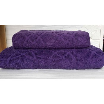 Жаккардовое полотенце Туркменистан фиолет фото 1