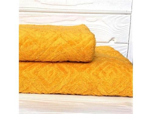 Жаккардовое полотенце Туркменистан желтое 2203 от АDТ в интернет-магазине PannaTeks