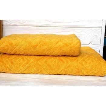 Жаккардовое полотенце Туркменистан желтое фото 1