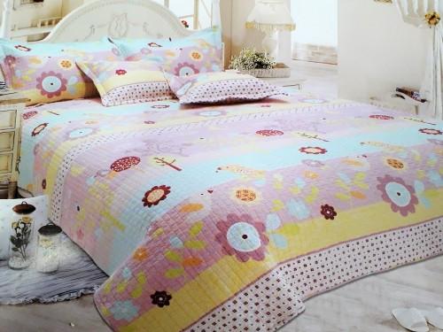 Детское покрывало на кровать хлопок стеганое Поляна 601105 от ALLTEX в интернет-магазине PannaTeks