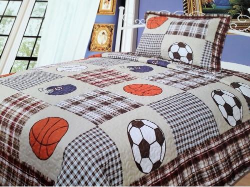 Подростковое покрывало на кровать хлопок стеганое Мячик 601106 от ALLTEX в интернет-магазине PannaTeks