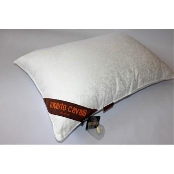 Гипоаллергенная подушка шелковая белая 50х70 CAVALLI сатин, Китай фото 1