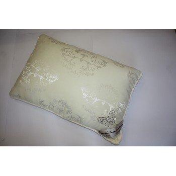 Гипоаллергенная подушка шелковая бежевая 50х70 700201 сатин, Китай