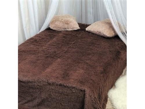 Плед длинный ворс коричневый 175014 от ALLTEX в интернет-магазине PannaTeks
