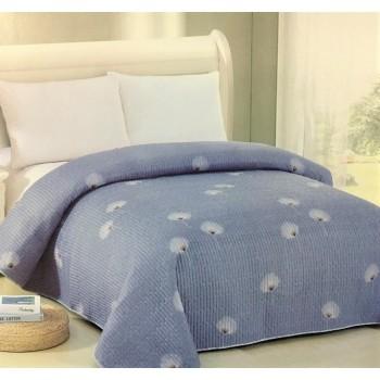 Покрывало на диван стеганое двустороннее евро 230х250 Soft Cotton одуванчик, Китай