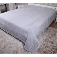 Велюровое покрывало на диван евро 230х250 Moire Velour 140101, Китай, Alltex
