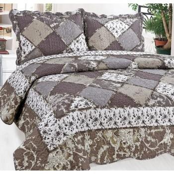 Стеганое покрывало пэчворк на кровать евро 230х250 Patchwork Lace 153307
