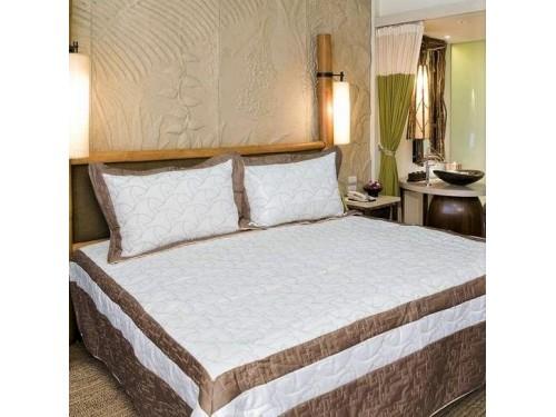 Атласное покрывало на кровать стеганое евро 230х250 Bluedream Cream 180101 180101 от ALLTEX в интернет-магазине PannaTeks