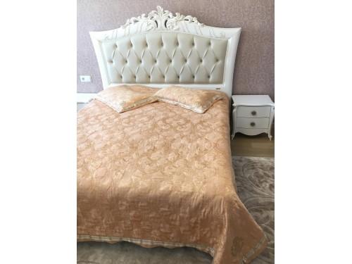 Атласное покрывало на кровать стеганое Cavalli Жаккард 146200 с узорами 146200 от ALLTEX в интернет-магазине PannaTeks