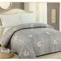 Покрывало на диван стеганое двустороннее евро 230х250 Soft Cotton серое, Китай
