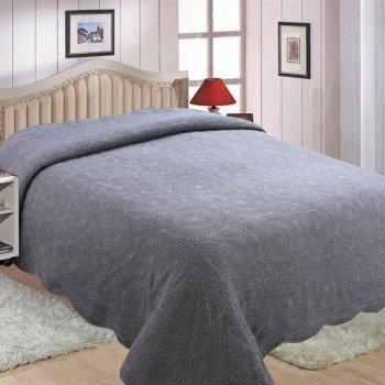 Покрывало на диван евро 230х250 DENIM 149001 серое, Китай, Alltex 149001 от ALLTEX в интернет-магазине PannaTeks