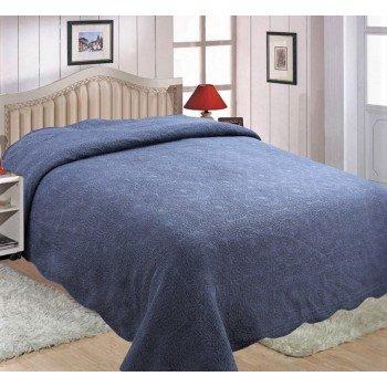 Покрывало на диван евро 230х250 DENIM 149002 синее, Китай, Alltex