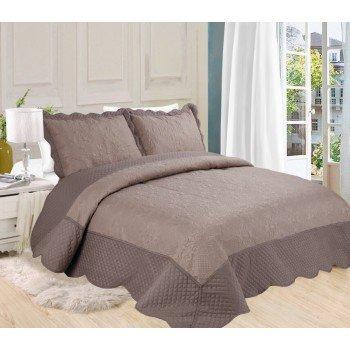 Стеганое покрывало поликоттон на кровать евро 230х250 Ultrasonic 143206