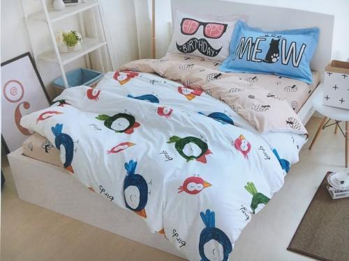 Подростковое постельное белье сатин Птицы 210020 от ALLTEX в интернет-магазине PannaTeks