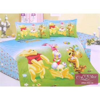 Детское постельное белье сатин Приключения Винни Пуха