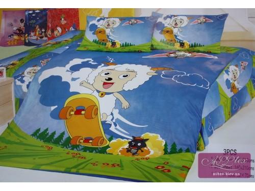 Детское постельное белье поплин Милый козлик 212038 от ALLTEX в интернет-магазине PannaTeks
