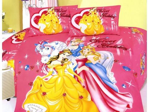 Детское постельное белье сатин Принцессы Диснея розовое 212233 от ALLTEX в интернет-магазине PannaTeks