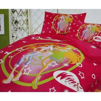 Детское постельное белье сатин Винкс клуб