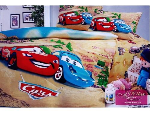 Детское постельное белье сатин Тачки в Городе 212443 от ALLTEX в интернет-магазине PannaTeks