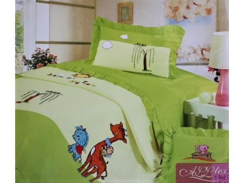 Детское постельное белье сатин Приключения зверят 211005 от ALLTEX в интернет-магазине PannaTeks