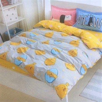 Подростковое постельное белье сатин Веселый Цыпленок