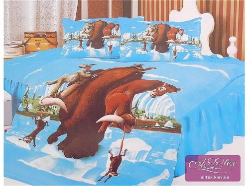 Детское постельное белье сатин Ледниковый период 212053 от ALLTEX в интернет-магазине PannaTeks