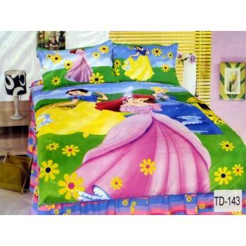Детское постельное белье сатин Принцесса и Белоснежка