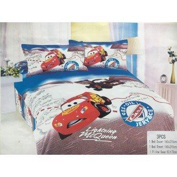 Детское постельное белье для мальчика сатин Тачки Маквин