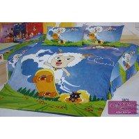 Детское постельное белье поплин Милый козлик
