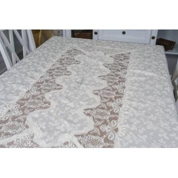 Атласная скатерть круглая/прямоугольная с вышивкой Блумарин фото 2