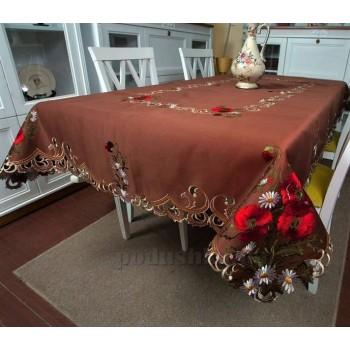 Атласная скатерть на стол с вышивкой прямоугольная Шоколадный мусс 3084 от ALLTEX в интернет-магазине PannaTeks