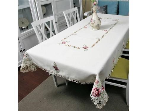Атласная скатерть на стол с вышивкой прямоугольная 8704 8704 от ALLTEX в интернет-магазине PannaTeks