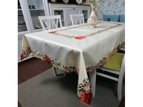 Атласная скатерть на стол круглая/прямоугольная с вышивкой 88252 88252 от ALLTEX в интернет-магазине PannaTeks