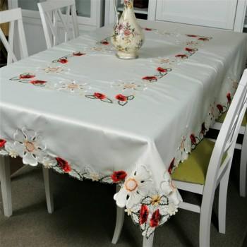 Атласная скатерть прямоугольная белая с вышивкой 9151 9151 от ALLTEX в интернет-магазине PannaTeks