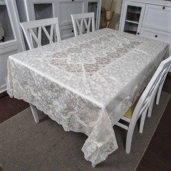 Атласная скатерть круглая/прямоугольная с вышивкой Блумарин Блумарин от ALLTEX в интернет-магазине PannaTeks