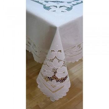 Льняная скатерть с вышивкой круглая/квадратная/прямоугольная TH006 фото 2