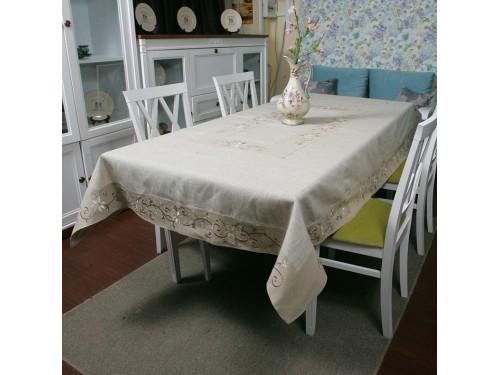 Льняная скатерть на стол с вышивкой 0106 0106 от ALLTEX в интернет-магазине PannaTeks