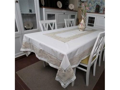 Льняная скатерть на стол с вышивкой квадратная/прямоугольная 1068 1068 от ALLTEX в интернет-магазине PannaTeks
