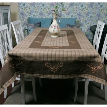 Льняная скатерть на стол с вышивкой 112-71 112-71 от ALLTEX в интернет-магазине PannaTeks